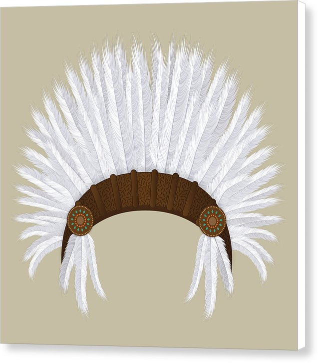 Boho Native American Headdress - Canvas Print from Wallasso - The Wall Art Superstore