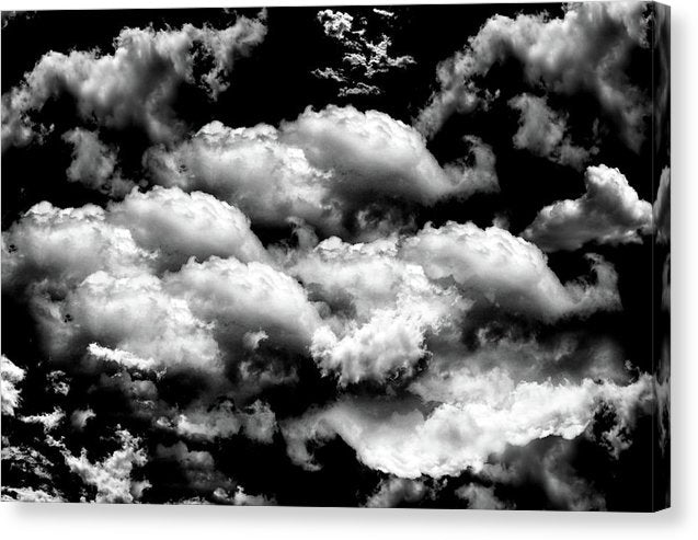Bold Black and White Clouds - Canvas Print from Wallasso - The Wall Art Superstore