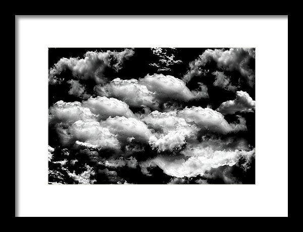 Bold Black and White Clouds - Framed Print from Wallasso - The Wall Art Superstore