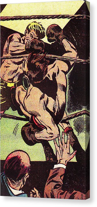 Boxers, Vintage Comic Book - Canvas Print from Wallasso - The Wall Art Superstore