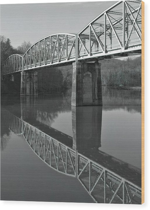Bridge Over Calm River - Wood Print from Wallasso - The Wall Art Superstore