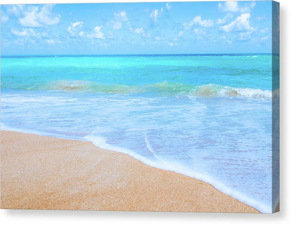 Brilliant Blue Ocean Beach - Canvas Print from Wallasso - The Wall Art Superstore