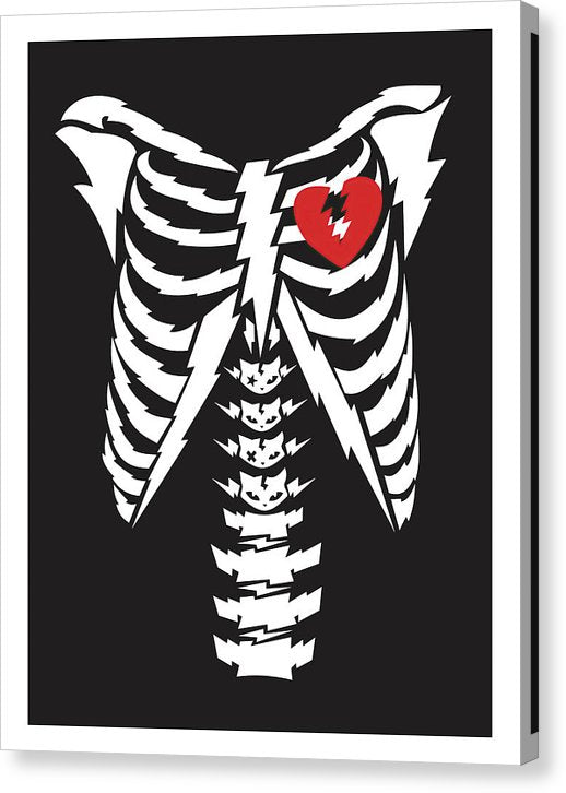 Broken Heart In Rib Cage - Canvas Print from Wallasso - The Wall Art Superstore