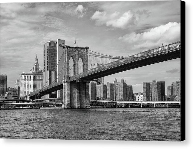 Brooklyn Bridge With New York City Behind - Canvas Print from Wallasso - The Wall Art Superstore