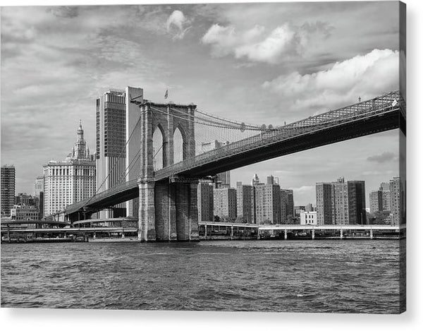 Brooklyn Bridge With New York City Behind - Acrylic Print from Wallasso - The Wall Art Superstore