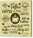 Brown Coffee Collage - Acrylic Print from Wallasso - The Wall Art Superstore