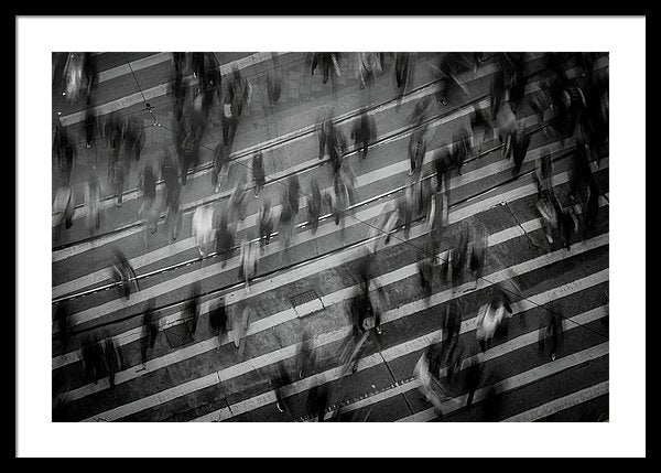 Busy City Crosswalk - Framed Print from Wallasso - The Wall Art Superstore