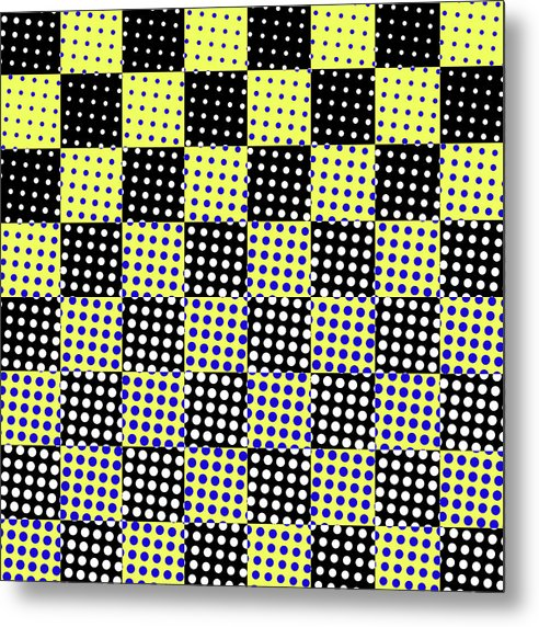 Busy Polka Dot Checkerboard Design - Metal Print from Wallasso - The Wall Art Superstore