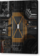 Busy Yellow Crosswalk, Aerial - Canvas Print from Wallasso - The Wall Art Superstore