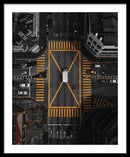Busy Yellow Crosswalk, Aerial - Framed Print from Wallasso - The Wall Art Superstore