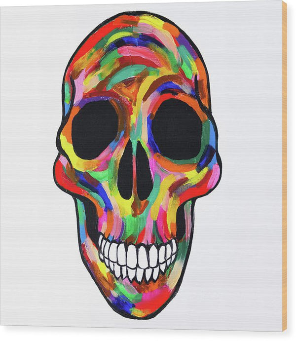 Calavera De Colores by Jessica Contreras - Wood Print from Wallasso - The Wall Art Superstore