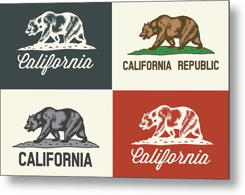 California State Flag Design - Metal Print from Wallasso - The Wall Art Superstore