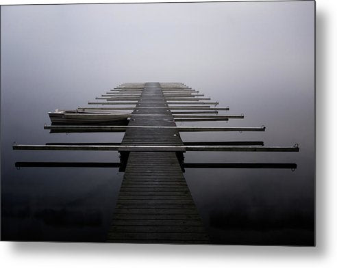 Calm Lake Docks - Metal Print from Wallasso - The Wall Art Superstore