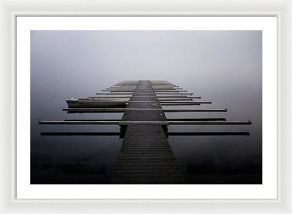 Calm Lake Docks - Framed Print from Wallasso - The Wall Art Superstore