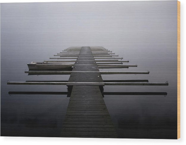 Calm Lake Docks - Wood Print from Wallasso - The Wall Art Superstore