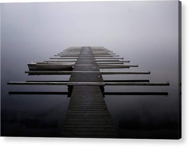 Calm Lake Docks - Acrylic Print from Wallasso - The Wall Art Superstore