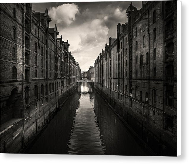 Canal In Hamburg Germany - Canvas Print from Wallasso - The Wall Art Superstore