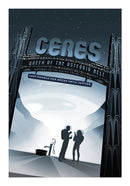 Ceres Visions of The Future Vintage Travel Poster - Art Print from Wallasso - The Wall Art Superstore