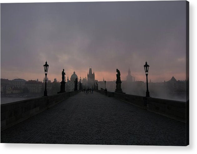 Charles Bridge In Prague, Czech Republic - Acrylic Print from Wallasso - The Wall Art Superstore
