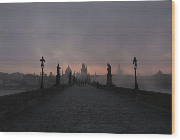 Charles Bridge In Prague, Czech Republic - Wood Print from Wallasso - The Wall Art Superstore