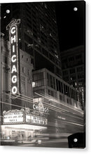 Chicago Theatre Sign, Sepia - Acrylic Print from Wallasso - The Wall Art Superstore