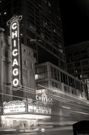 Chicago Theatre Sign, Sepia - Art Print from Wallasso - The Wall Art Superstore