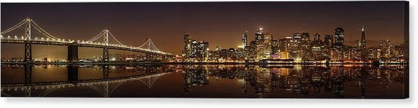 City Lights At Night, Panorama - Canvas Print from Wallasso - The Wall Art Superstore