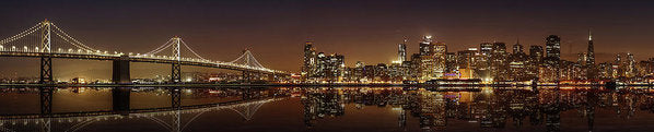 City Lights At Night, Panorama - Art Print from Wallasso - The Wall Art Superstore