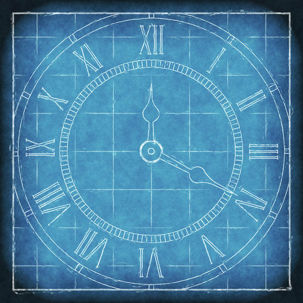 Clock Blueprint - Art Print from Wallasso - The Wall Art Superstore