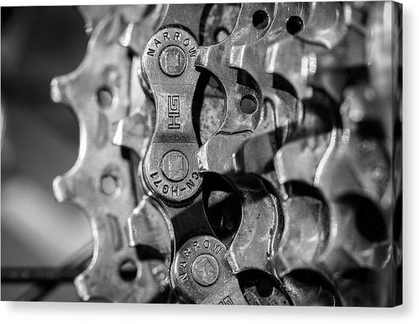 Closeup of Bike Gears and Chain - Canvas Print from Wallasso - The Wall Art Superstore