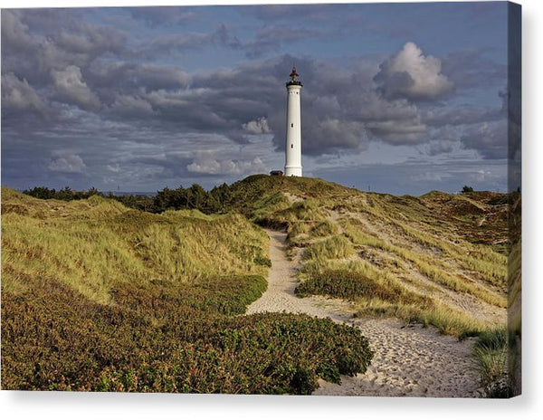 Coastal Beach Lighthouse - Canvas Print from Wallasso - The Wall Art Superstore