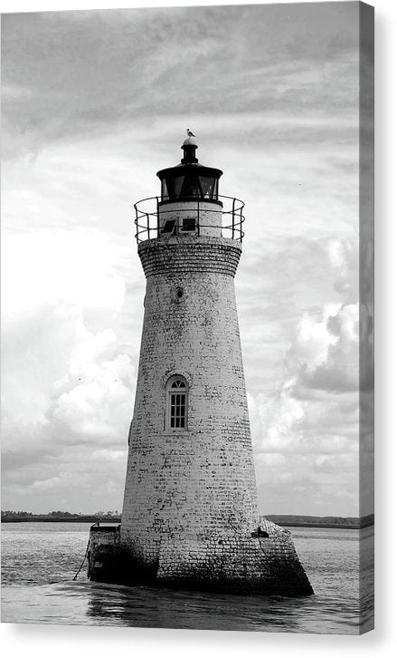 Cockspur Island Lighthouse - Canvas Print from Wallasso - The Wall Art Superstore