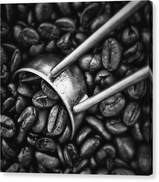 Coffee Beans, Black and White - Canvas Print from Wallasso - The Wall Art Superstore