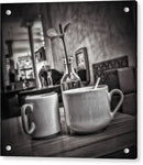 Coffee Cups On Table - Acrylic Print from Wallasso - The Wall Art Superstore