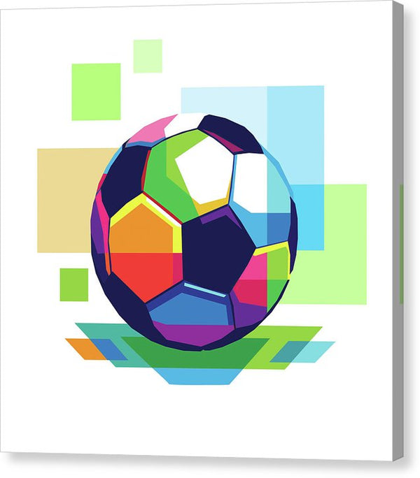 Colorful Abstract Soccer Ball - Canvas Print from Wallasso - The Wall Art Superstore