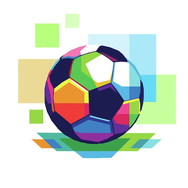 Colorful Abstract Soccer Ball - Art Print from Wallasso - The Wall Art Superstore