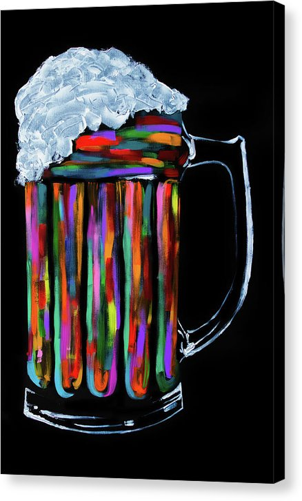 Colorful Beer Mug by Jessica Contreras - Canvas Print from Wallasso - The Wall Art Superstore