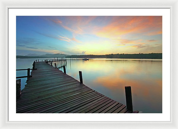 Colorful Boardwalk At Sunset - Framed Print from Wallasso - The Wall Art Superstore