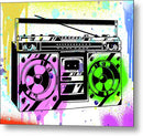 Colorful Boombox Street Art Graffiti Design, 1 of 3 Set - Metal Print from Wallasso - The Wall Art Superstore
