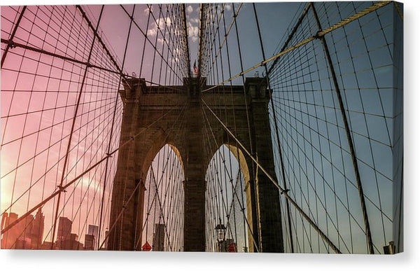 Colorful Brooklyn Bridge - Canvas Print from Wallasso - The Wall Art Superstore