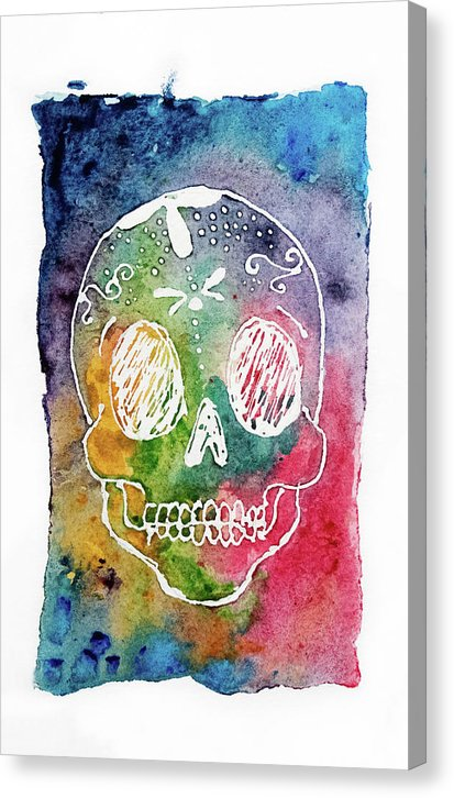Colorful Calavera by Jessica Contreras - Canvas Print from Wallasso - The Wall Art Superstore