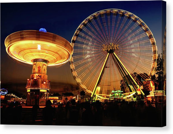 Colorful Carnival Rides - Canvas Print from Wallasso - The Wall Art Superstore