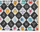 Colorful Checkered Zodiac Signs - Wood Print from Wallasso - The Wall Art Superstore