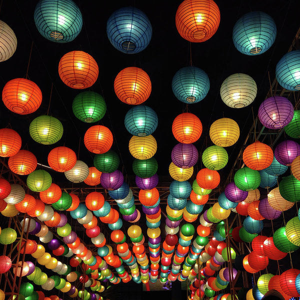Colorful Chinese Lanterns - Art Print from Wallasso - The Wall Art Superstore