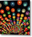 Colorful Chinese Lanterns - Metal Print from Wallasso - The Wall Art Superstore