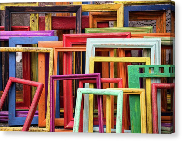 Colorful Empty Picture Frames - Canvas Print from Wallasso - The Wall Art Superstore