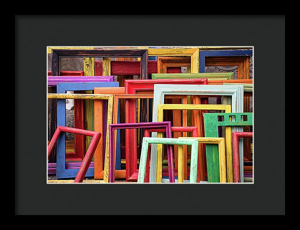 Colorful Empty Picture Frames - Framed Print from Wallasso - The Wall Art Superstore