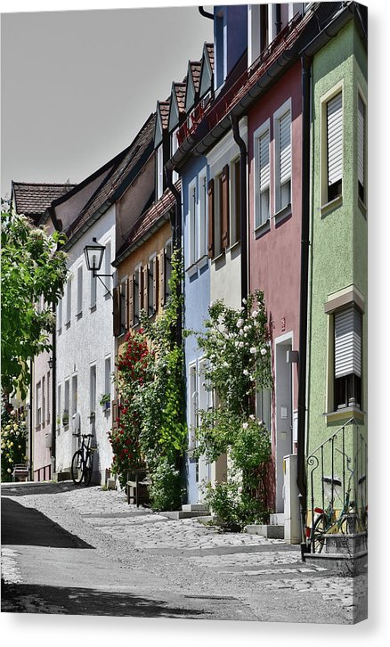 Colorful European Houses - Canvas Print from Wallasso - The Wall Art Superstore