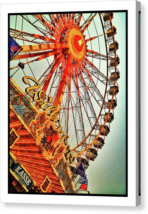 Colorful Ferris Wheel - Canvas Print from Wallasso - The Wall Art Superstore