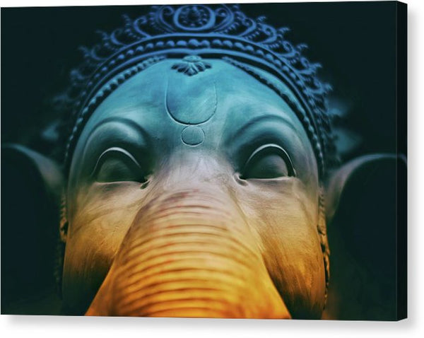 Colorful Ganesh Elephant Face - Canvas Print from Wallasso - The Wall Art Superstore